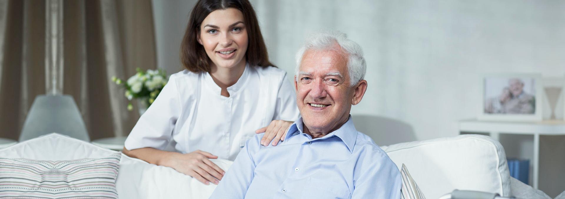 grandpa and his caretaker